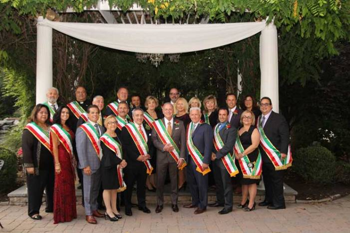Nutley–Belleville Columbus Day Parade committee members and honorees feted