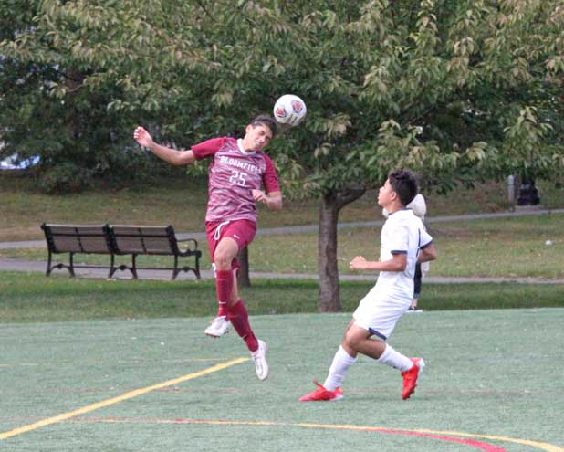 UPDATE: Bloomfield HS boys soccer team falls to MKA; defeats Irvington in the ECT