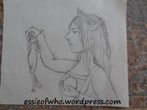 The Princess and The Frog- Pencil sketch