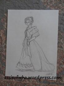 Victorian Striped Lady