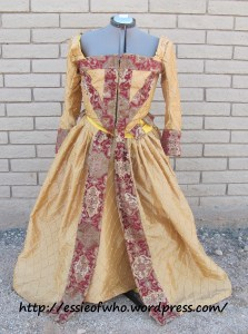 Finished dress from the front