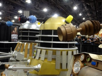 The three Dalek eye stalks