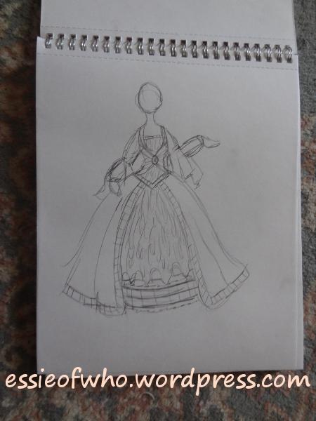 princess tardis sketch