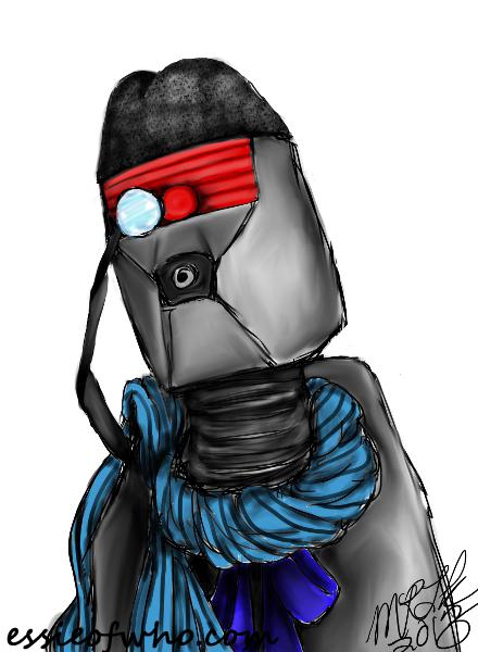 K-9 cosplays 1st Doctor
