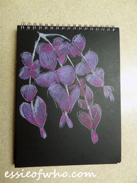 black paper sketch flower 1