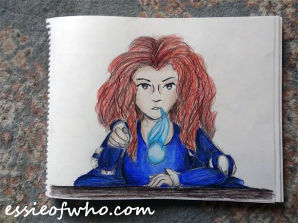 merida pencil drawing