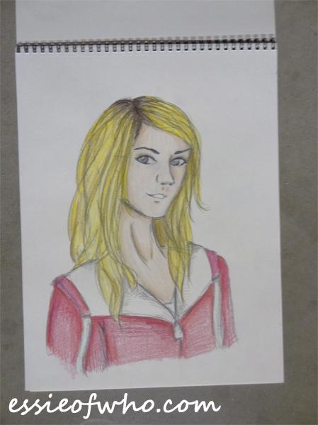 rose tyler pencil drawing
