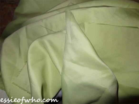 anna coronation dress skirt fabric