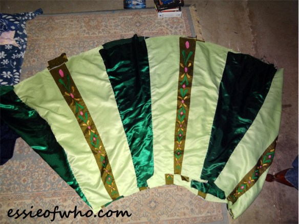 anna coronation dress skirt assembled