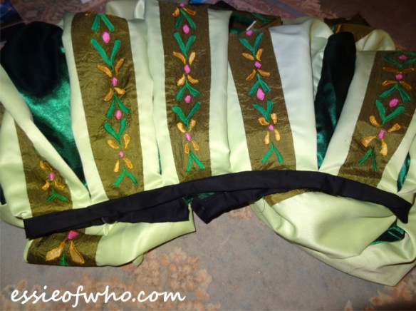 anna coronation dress waistband