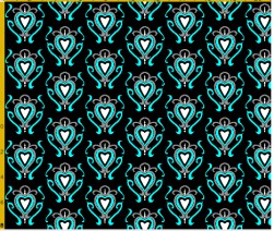 heart damask fabric design 10