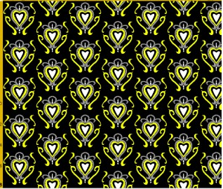 heart damask fabric design 8