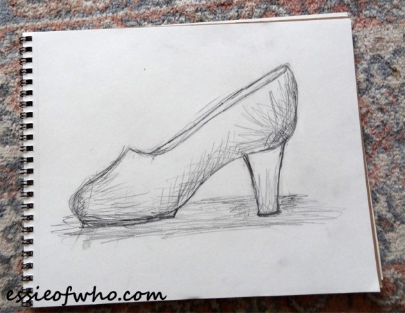 cinderella-shoe-drawing