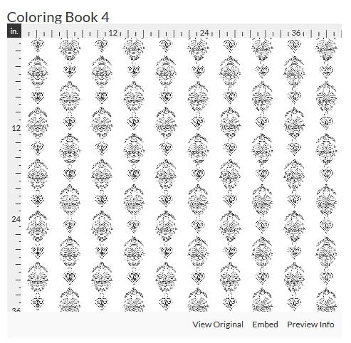 coloring book 4 fabric design