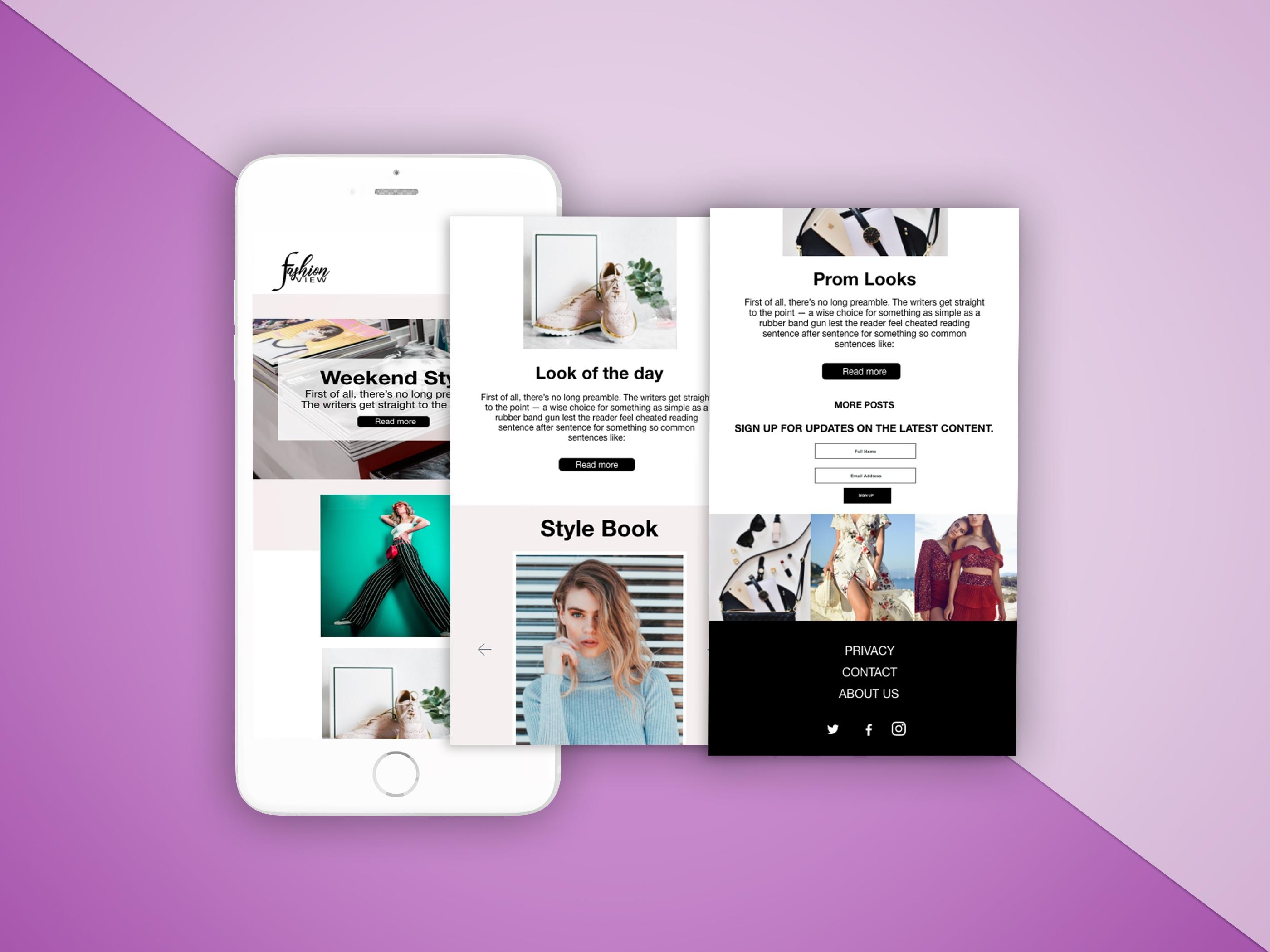 fashion blogger website design