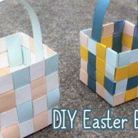 Paper Easter Basket Tutorial
