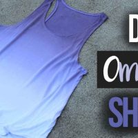 How to Ombré Dye a Shirt (Single Color)