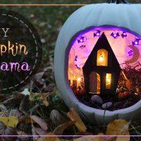 Spooky Halloween Pumpkin Diorama Tutorial