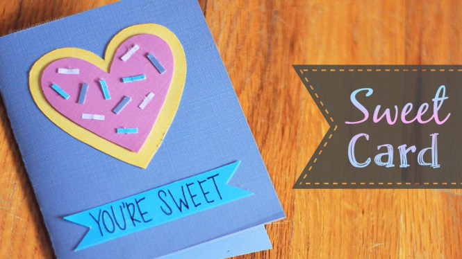 """""""Sweet"""" Valentine's Day Card Tutorial + Free Coloring Page"""