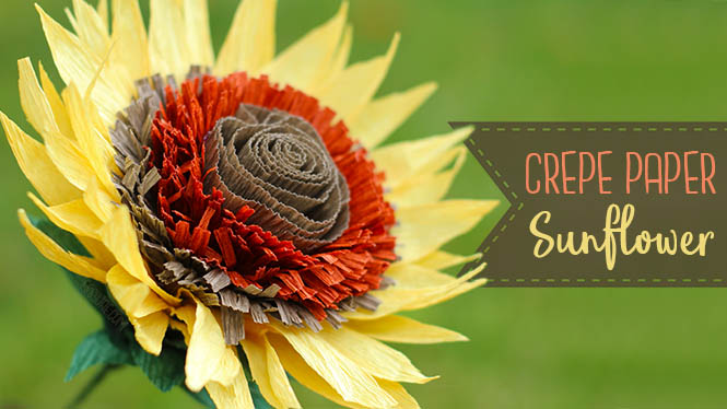 Crepe Paper Sunflower Tutorial