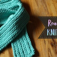 Round Loom Knit Scarf Tutorial - Knit, Purl & Slip Stitch