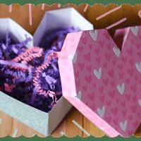 Geometric Paper Heart Box Tutorial