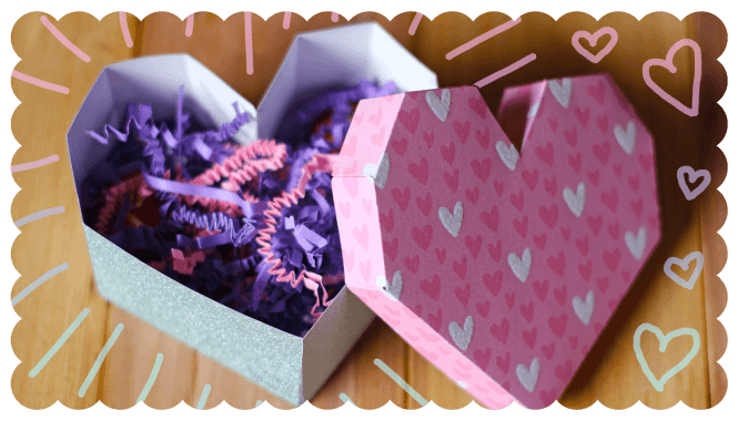 Geometric Paper Heart Box Tutorial