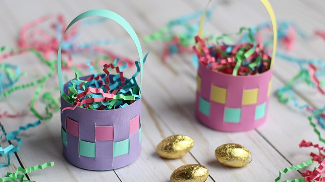 Cute Mini Paper Easter Basket Egg Holder Tutorial