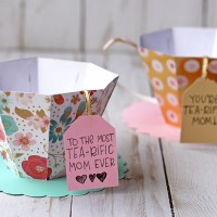 3D Paper Tea Cup For Mother's Day!