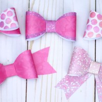 DIY Paper Bow Tutorial: 5+ Bows with 1 Template!