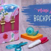 Paper Backpack Gift Box Tutorial 🍎 Teacher Gift Idea