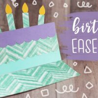 Birthday Cake Easel Card Tutorial