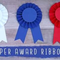 DIY Paper Award Ribbon Rosettes! 🏆