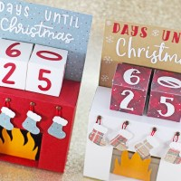 Christmas Countdown Fireplace Advent Calendar Papercraft Tutorial