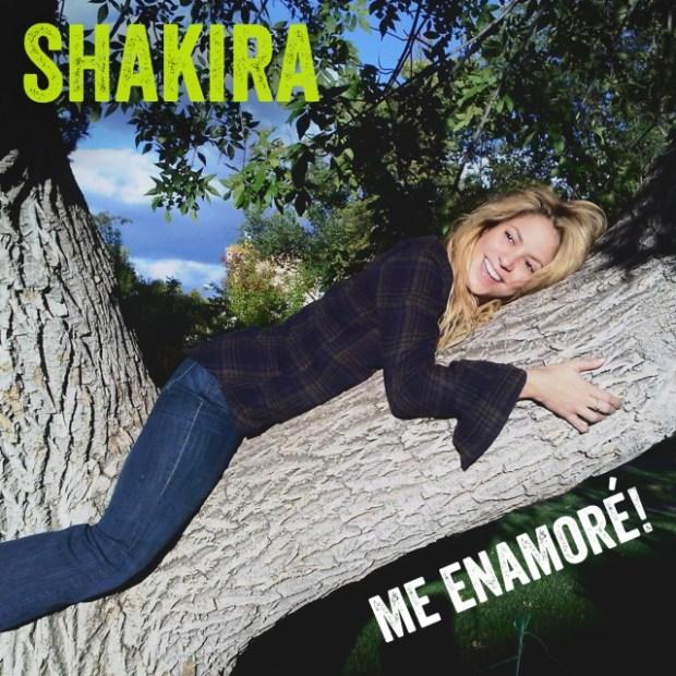 """Shakira's """"Me Enamoré"""" single cover"""