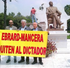 Statue of late Azerbaijan dictator at Mexico City park angers activitists