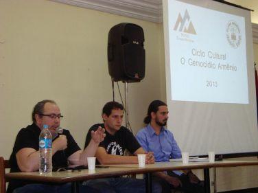 a partir da esquerda: Onnig Tamdjian, Marcelo Mirzeian e Heitor Loureiro