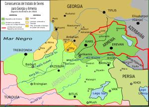 Sevri Tashnagir, tratado de Sévres, Armênia, Turquia usurpa