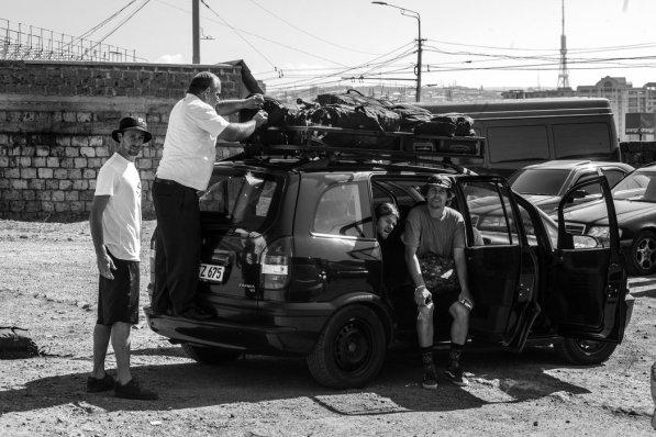 Nas estradas de Yerevan