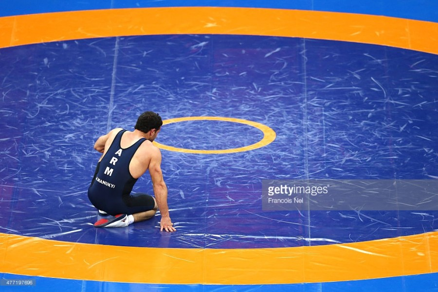 XXX of ZZZ competes in the (discipline & session name) during day two of the Baku 2015 European Games at Heydar Aliyev Arena on June 14, 2015 in Baku, Azerbaijan.
