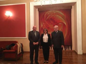 Zadikian, Dep. Shushan Sardaryan (Partido Republican e Presidente do Grupo Parlamentar de Amizade Armênia - Brasil) e Natalini