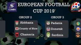 Definidos grupos da Taça Conifa 2019 em Artsakh