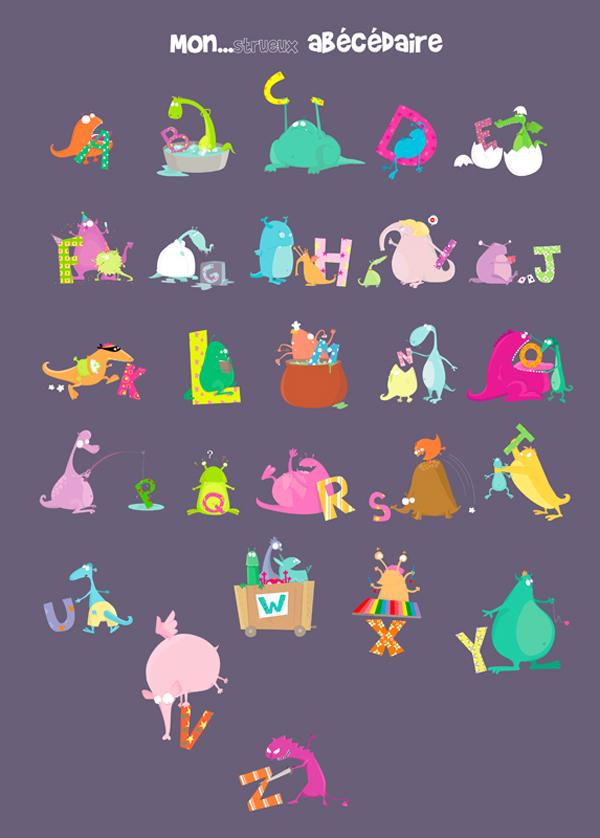 Monster alphabet thuillier
