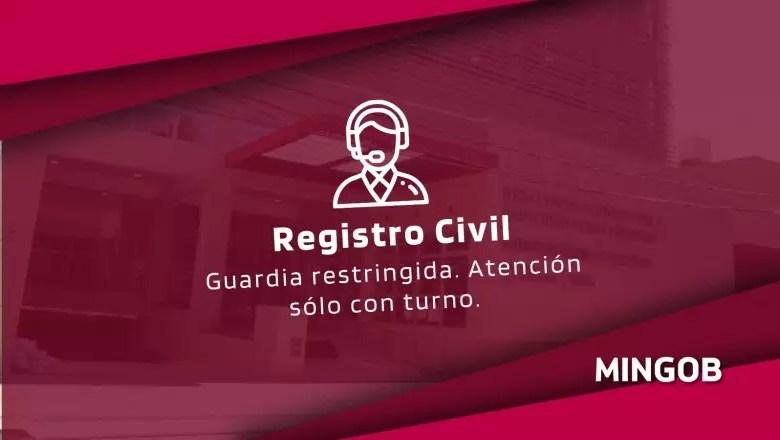 Photo of El Registro Civil continúa la atención con guardia mínima