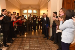 Despedida de Milton Juica del Palacio de Tribunales. Foto gentileza www.pjud.cl