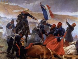 Las victoriosas tropas de las batallas de Solferino, Magenta y Sebastopol, el ejército más poderoso de su época, sucumben ante un ejército improvisado y maltrecho, pero henchido de patriotismo.