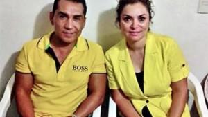 José Luis Abarca y su esposa. Foto: Especial