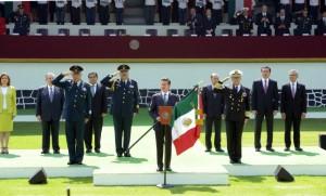 EPN durante la ceremonia en Campo Marte. Foto: Especial