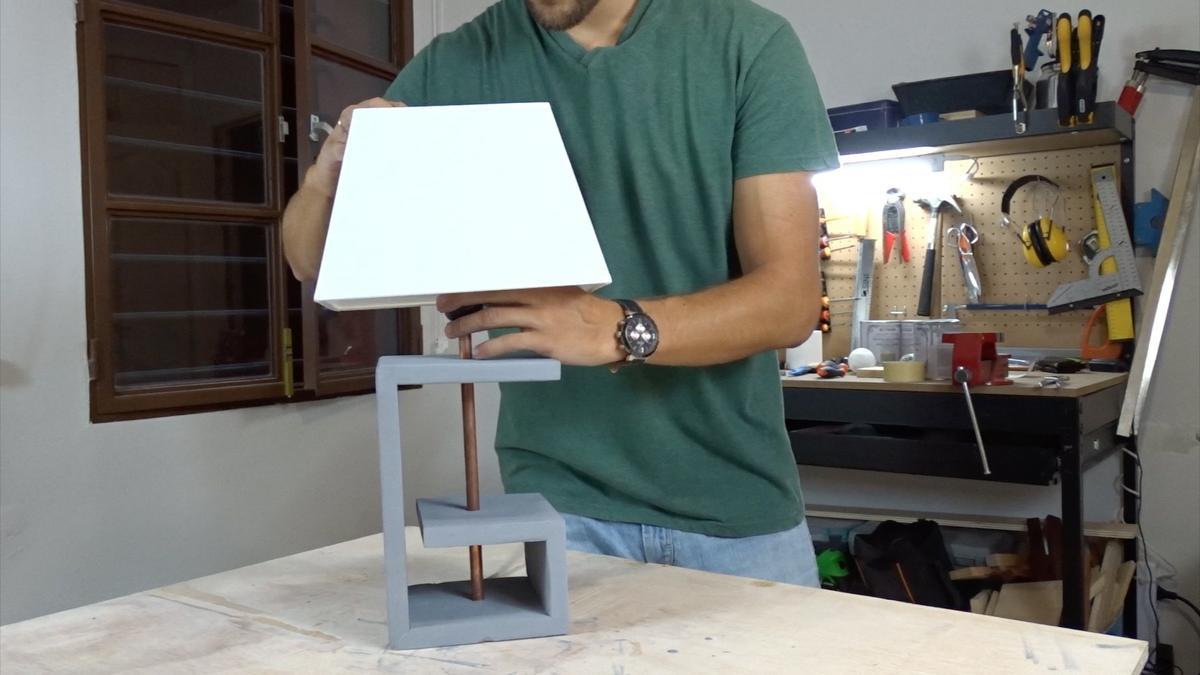 Como hacer una lampara 18   DIY modern lamp