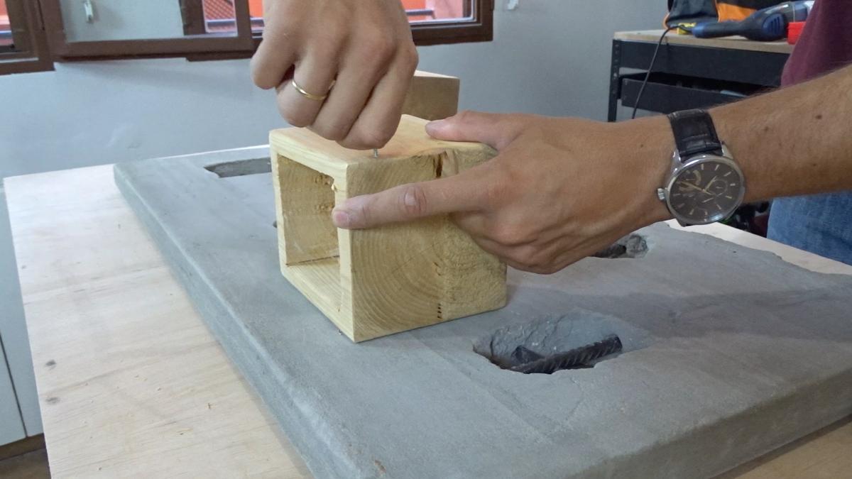 Macetero colgante de cemento 27Macetero colgante de cemento 27
